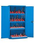 niebieska szafka warsztatowa zamykana
