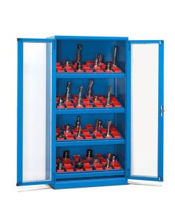 szafka warsztatowa zamykana z szklanymi drzwiami