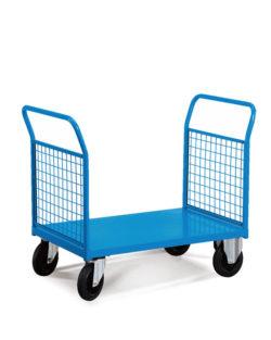 wózek magazynowy zabudowany kratką metalową