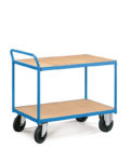 wózek magazynowy niebieski dwupoziomowy
